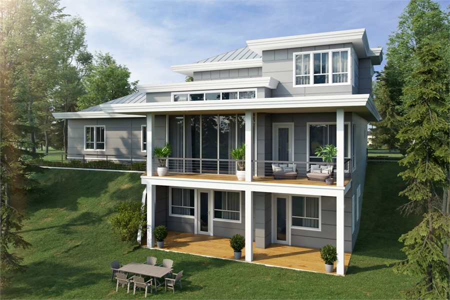 House Plan 7282: Mid-Sized Contemporary
