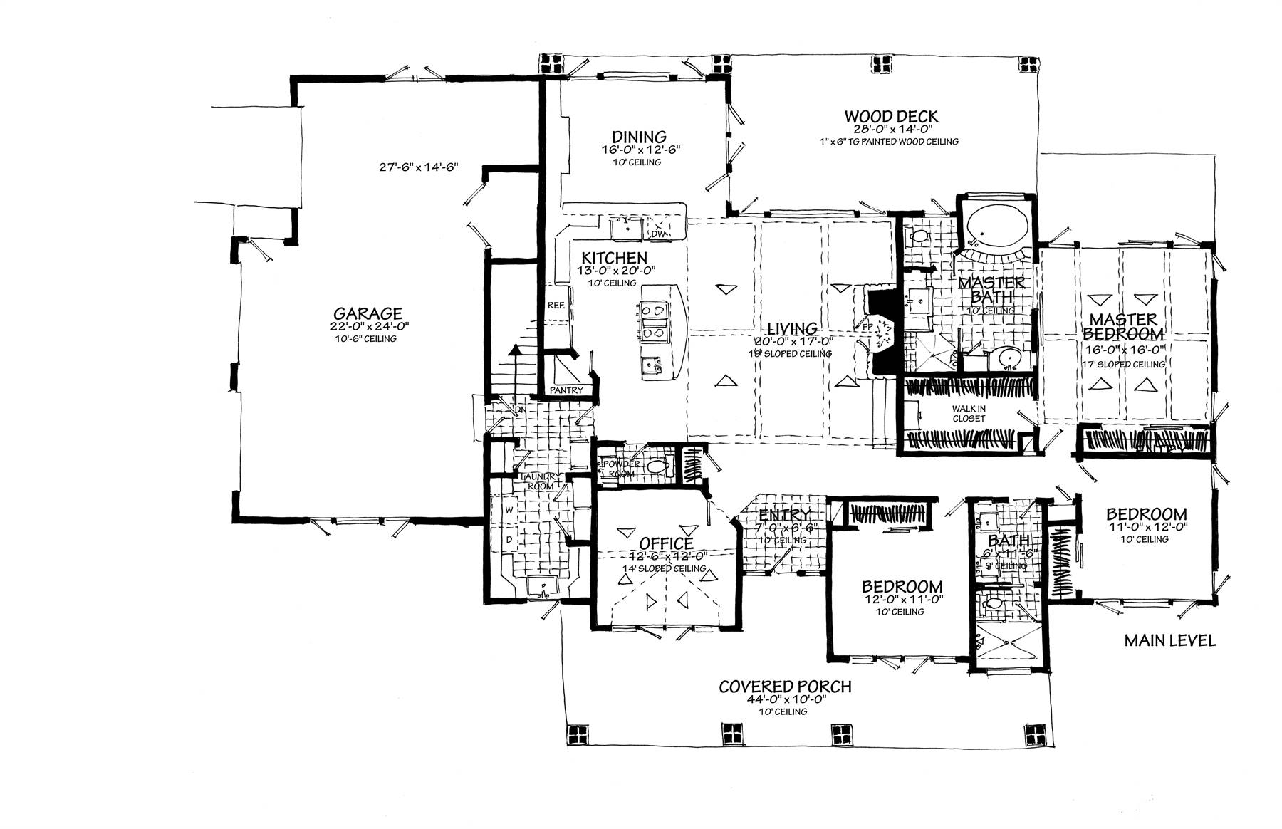 1st Floor Plan Side Entry Garage