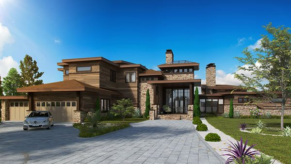 Contemporary Two Story Luxury House Plan