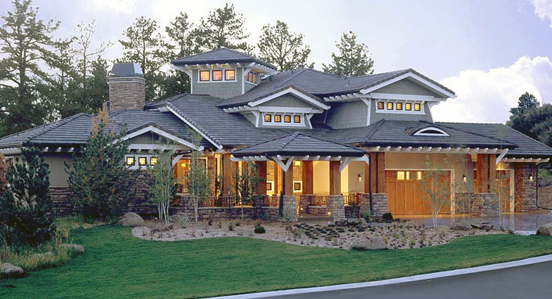 craftsman two-story house plan