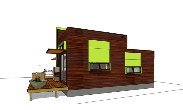Green Modern Style House Plan 3973 Hummingbird H2