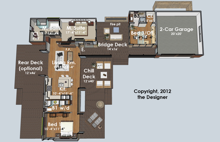 Hummingbird H3 4382 3 Bedrooms And 3 5 Baths The House