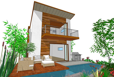 Modern Three Story House Plan