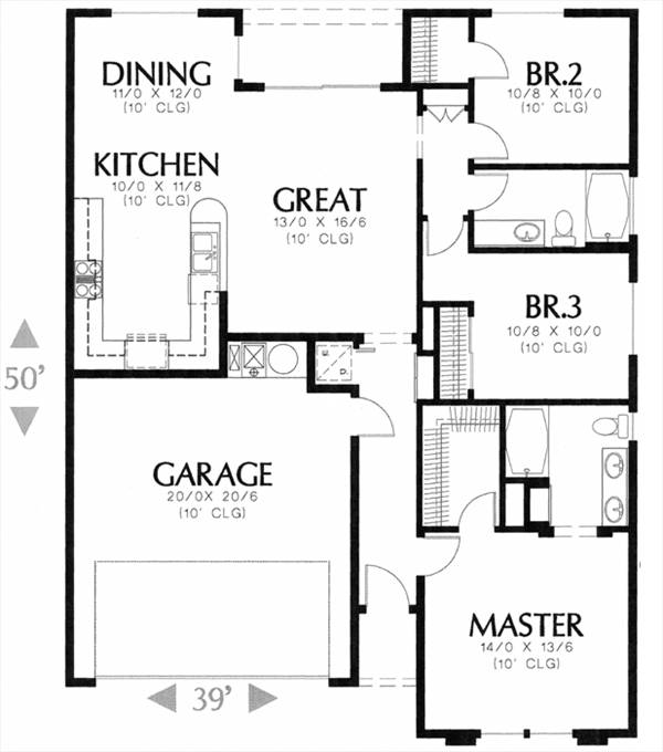 1100 7786 - 3 Bedrooms and 2.5 Baths | The House Designers