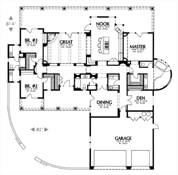 1234c 6500 3 Bedrooms And 3 5 Baths The House Designers