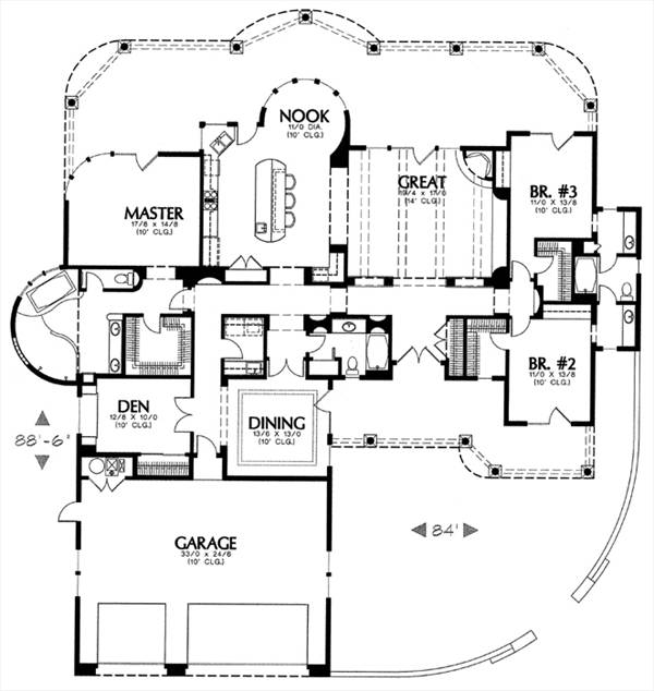 1250 6714 3 bedrooms and 3 5 baths the house designers for 1250 sq ft house plans