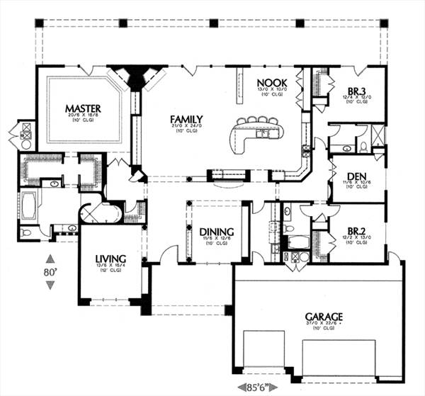 1306a 6727 3 Bedrooms And 3 5 Baths The House Designers