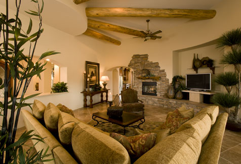 1319c 6533 3 bedrooms and 3 baths the house designers for Mexican houses interior designs