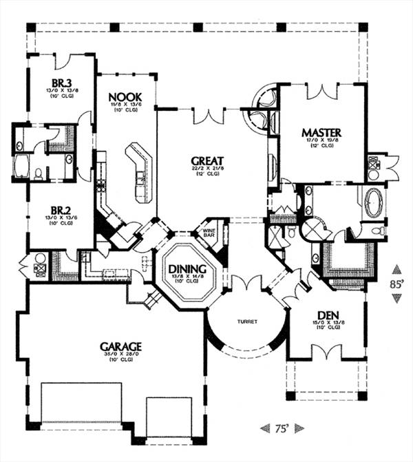 floor plan image of 1347 House Plan