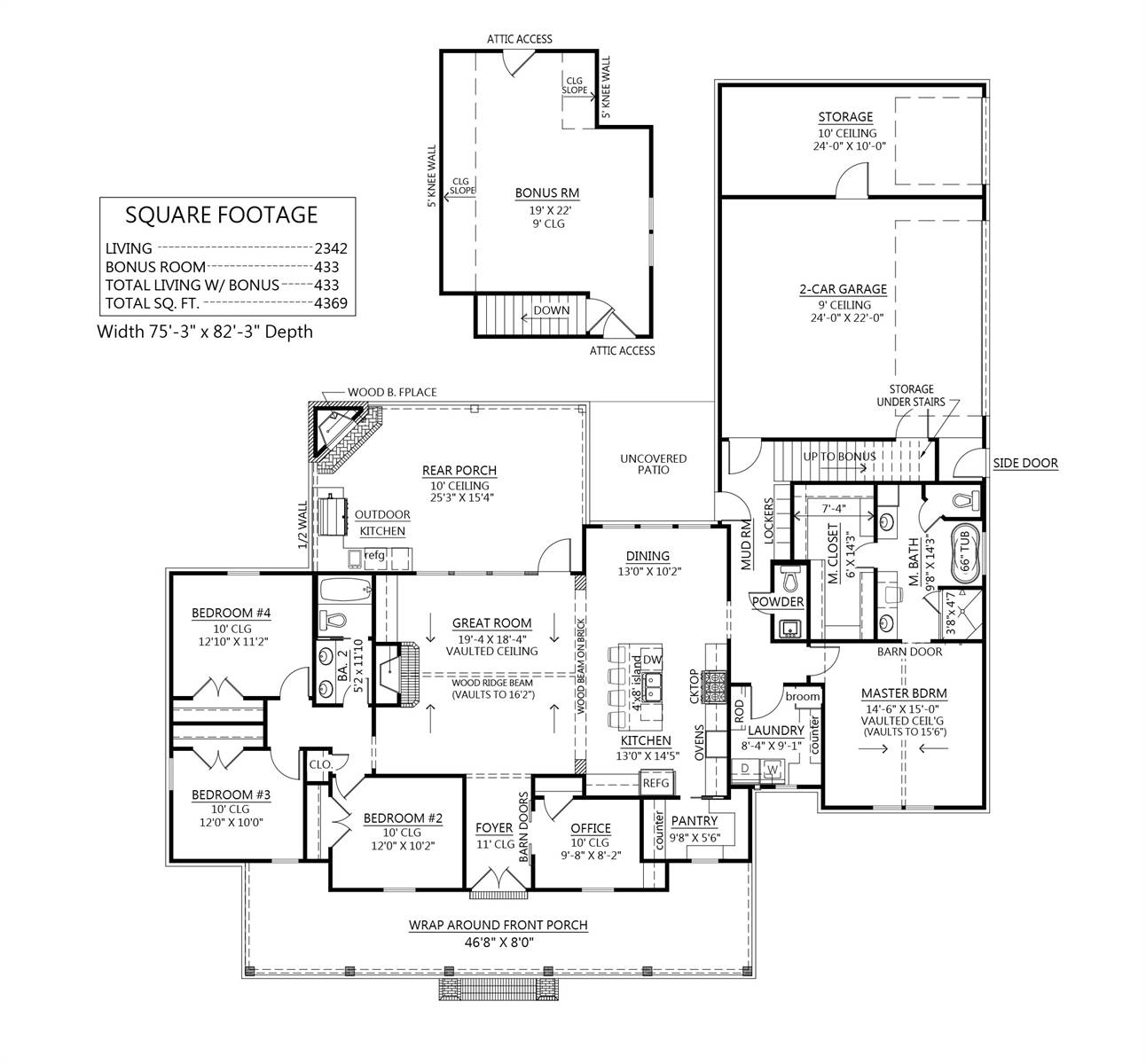 Optional Bonus Room Plan