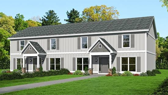 image of McClure Duplex House Plan