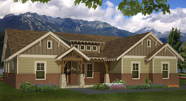 three-bedroom ranch house plan on l-shaped range home plans, l shaped garage plans, indoor range plans, steel frame homes floor plans,