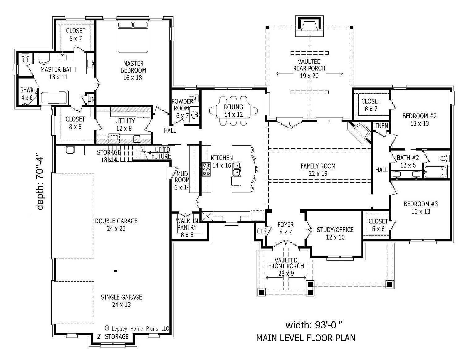 100 bi level floor plans with attached garage for Bi level house plans with attached garage