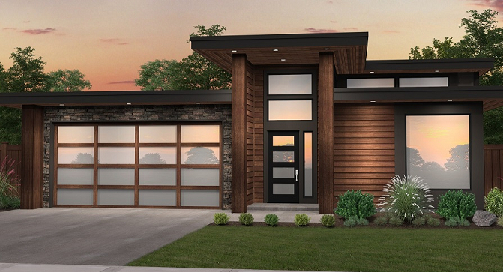The Perfect Sleek Modern Mid-Sized Home Plan