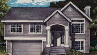 Bi Level House Plans Split Entry Raised Home Designs by THD