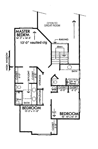 Upper Floor Plan image of The Colorado House Plan