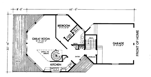 The longview 6130 2 bedrooms and 2 5 baths the house for Inverted house plans