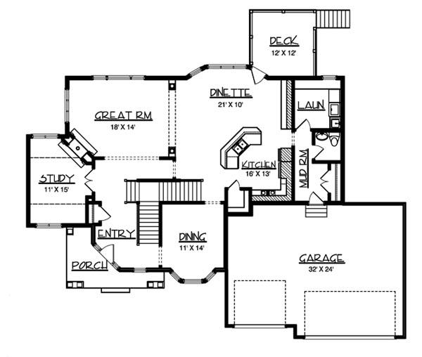 The barrington 6222 3 bedrooms and 2 baths the house for Barrington floor plan