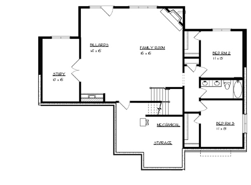 Lower Floor Plan image of Michigan House Plan