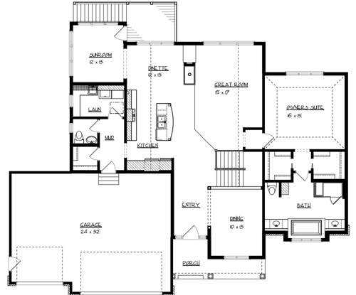 Main Floor Plan image of Michigan House Plan
