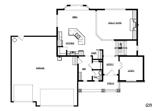 Melbourne House Plan 1051 - 3 Bedrooms and 2.5 Baths | The House