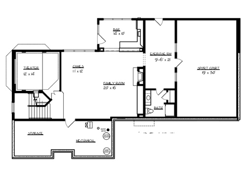 Home plans with indoor sports courts home design and style for House plans with indoor sport court