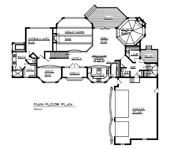 Garage Plan 95826 At Familyhomeplans Com: The Gull Lake 7783 - 3 Bedrooms And 4 Baths