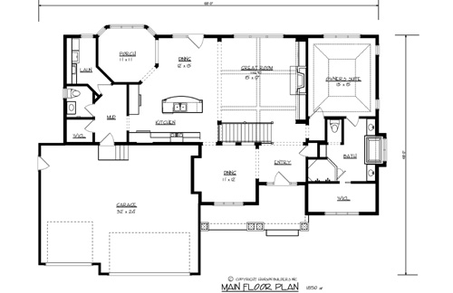 The lakeside 1695 3 bedrooms and 2 baths the house for Lakeside floor plan