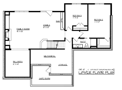 The victoria 1696 3 bedrooms and 2 baths the house for Copying house plans