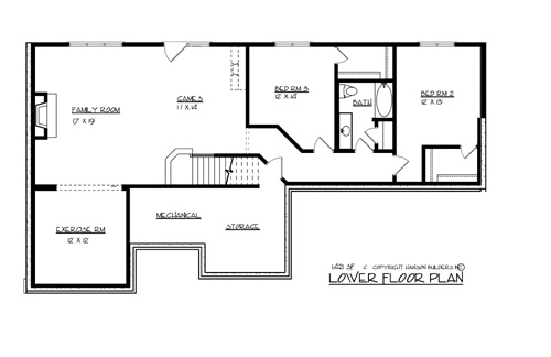 Lower Floor Plan image of The Morton House Plan