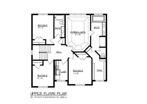 The Canadian 1702 4 Bedrooms And 2 Baths The House Designers