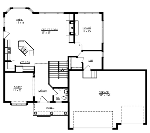 The williamsburg 1707 4 bedrooms and 2 baths the house for Williamsburg house plans
