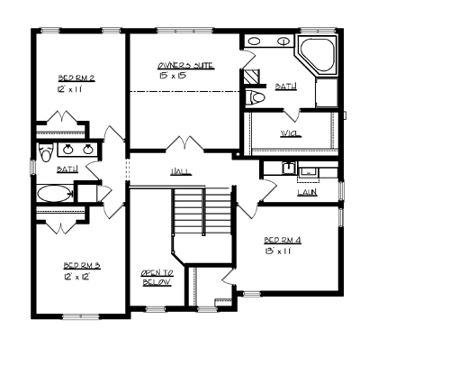 The williamsburg 1707 4 bedrooms and 2 baths the house Williamsburg home plans