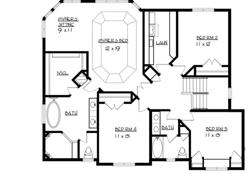 The harrison 1710 4 bedrooms and 2 baths the house for Copying house plans