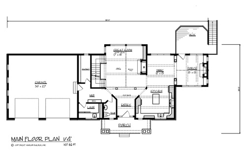 Main Floor Plan image of The North Shore House Plan
