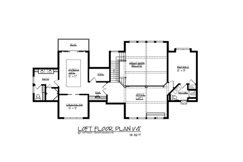 Upper Floor Plan image of The North Shore House Plan