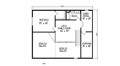 The aspen 1884 3 bedrooms and 3 5 baths the house for Aspen house plans