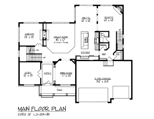 The snail lake 1906 4 bedrooms and 3 baths the house for Main level floor plans