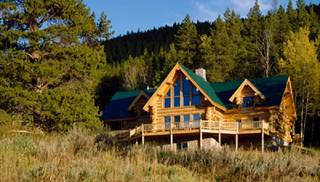 image of Mountain View Log Home House Plan