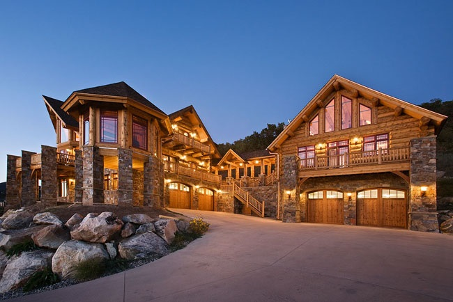 Ultimate Log Home 9436 - 5 Bedrooms and 4 Baths | The House Designers