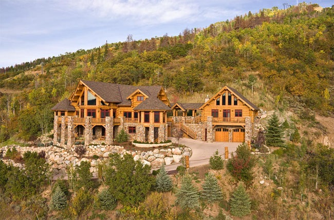 Ultimate Log Home 400 400 Bedrooms And 40 Baths The House Designers Cool Log Home Bedrooms