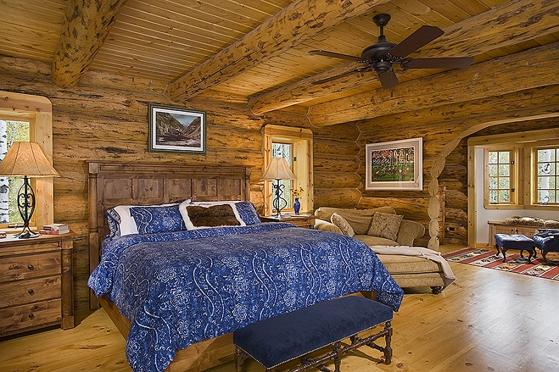 The Hudson Log Home 9432 - 4 Bedrooms and 4 Baths | The House Designers