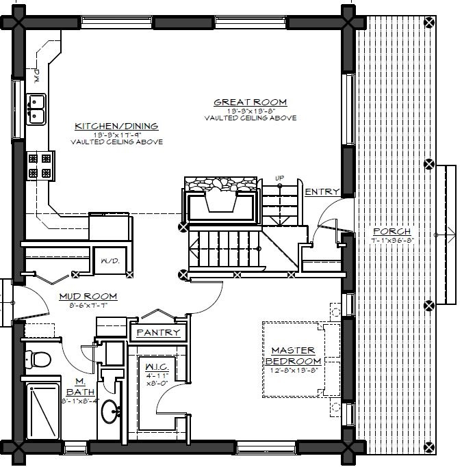 Log cabin retreat 9405 1 bedroom and 1 5 baths the for How to plan a couples retreat