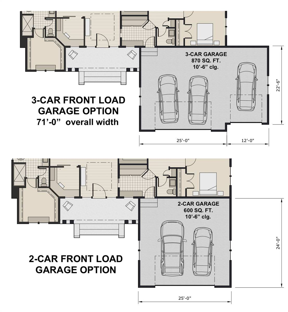 Front Load Garage Option