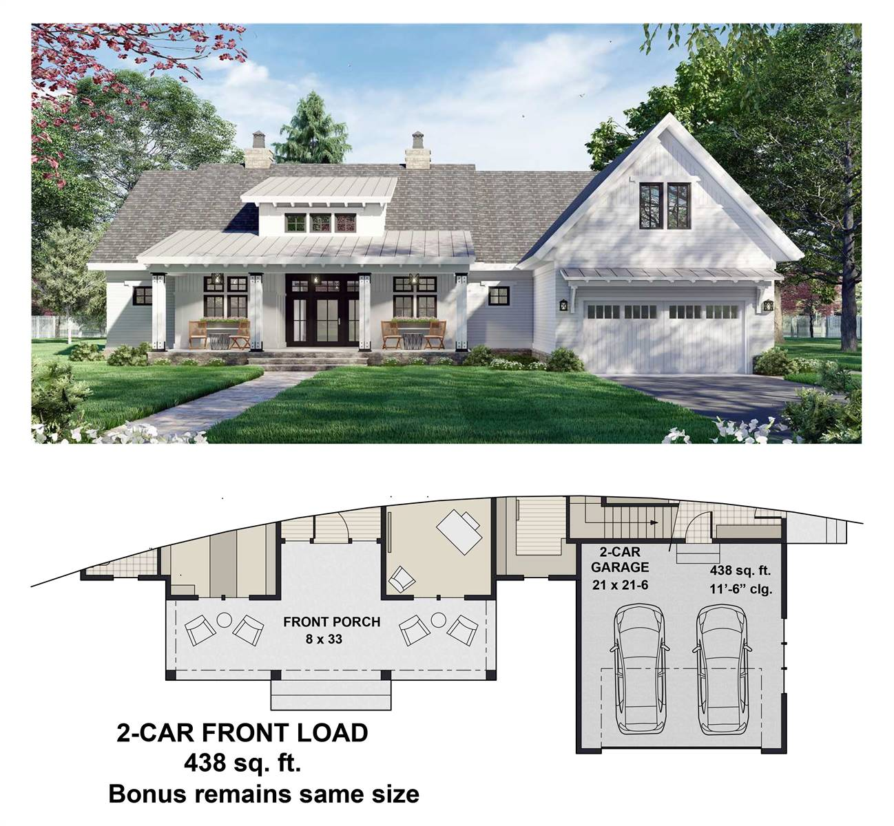 2-Car Front Entry Option