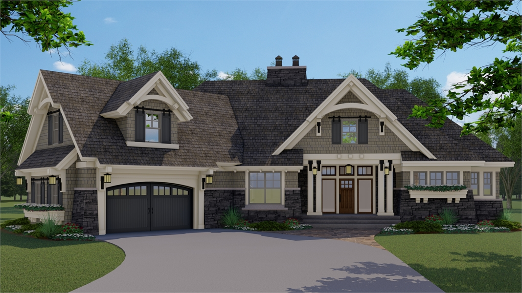 one-story traditional house plan