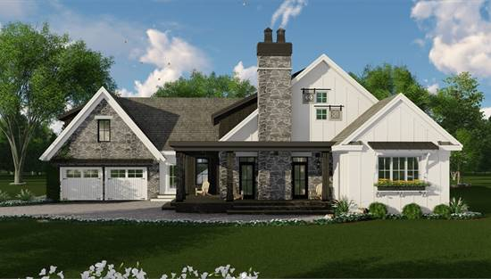 image of Rustic Mountain House Plan