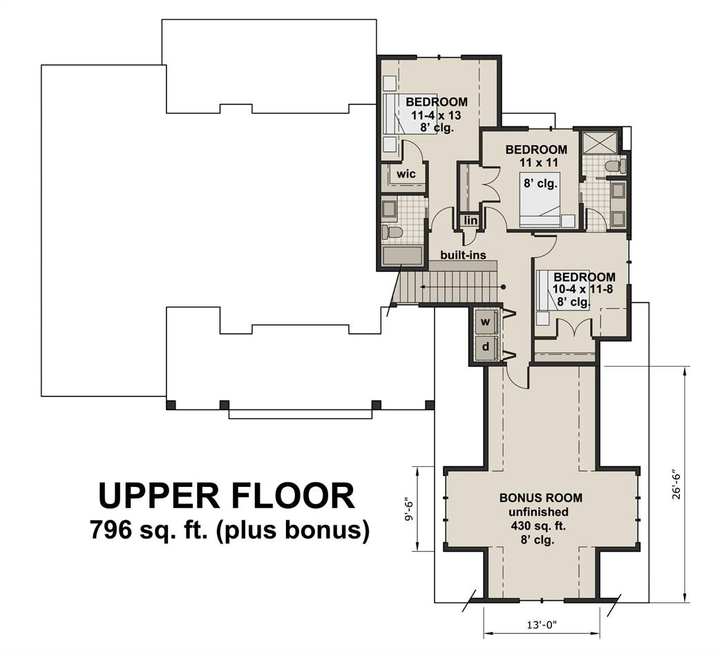 Country house plan with a new american feel for Walton house floor plan