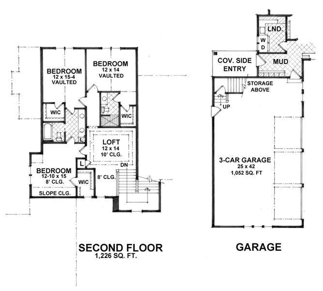 Two-story Craftsman House Plan With Walkout Basement