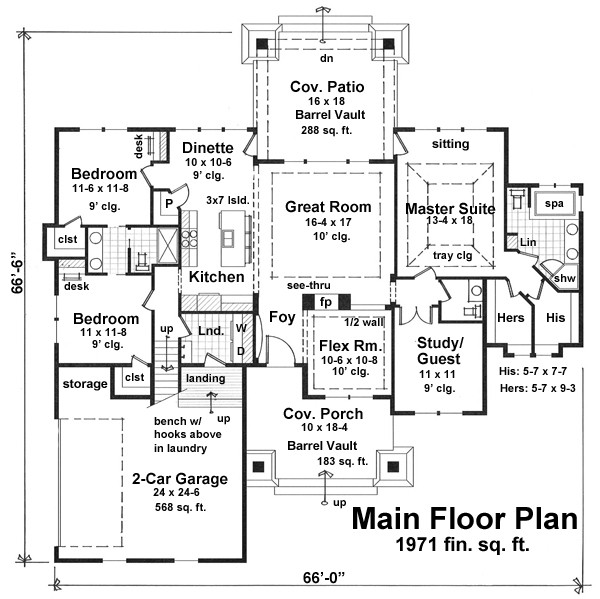 One Story Cottage House Plan